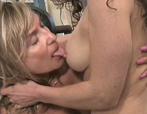 Female muscle lesbians Debbie and Tia continue their gym romp and take things to another level of sexy. This video features these two muscle ladies grinding on each other, pussy fingering and plenty of pec and nipple play. This video is super hot and one you will NOT want to miss.