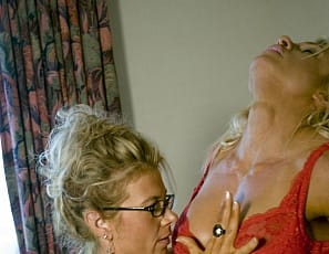 Reagan's wearing glasses in the bedroom so she can get a good close look at Melissa Dettwiller, but with all the close-ups in this girl/girl photo set, you won't have to wear yours. Get close to big clits, pretty feet, pussy spanking, nipple tweaking, lots of sexy oral action and hard muscle.