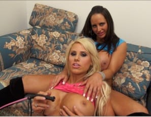 Megan Avalon and Nikki Jackson's virtual session continues, as Nikki shows you how worship-worthy Megan's muscular pecs, huge tits,  biceps, abs, glutes, legs and calves are when she's posing in high heels. You'll enjoy the sexy naked girl/girl fem domme play, and you'll definitely like watching them play with and muscle worship each other.