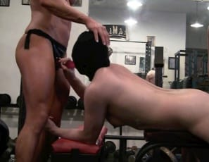 Porn star Ashlee Chambers and bodybuilder Darkside Milinda double-penetrate their Asian plaything Rikochan at the gym with big strap-on toys. You get to watch them taking turns with her pussy and mouth in close-up and enjoy their strong pecs, biceps and tattooed abs along with all the girl/girl/girl action.